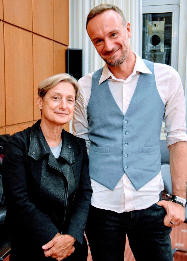 Judith Butler und Dirk Schulz in Köln 2016. Foto: Claudia Nikodemus